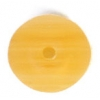 Glass Pressed Beads 8mm Round Butter Yellow Matt